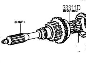 Input And Output Shaft Bearing Diagram, Input, Free Engine