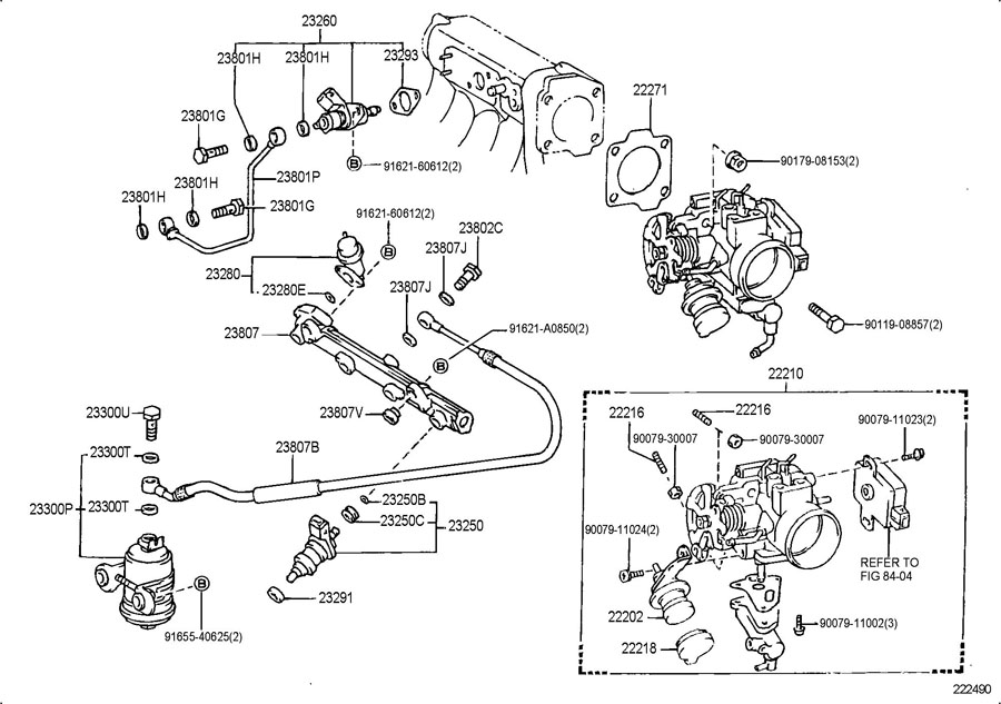 1992 TOYOTA COROLLA FUEL INJECTION SYSTEM