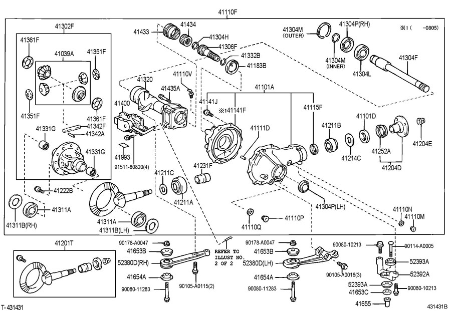 FRONT AXLE HOUSING & DIFFERENTIAL