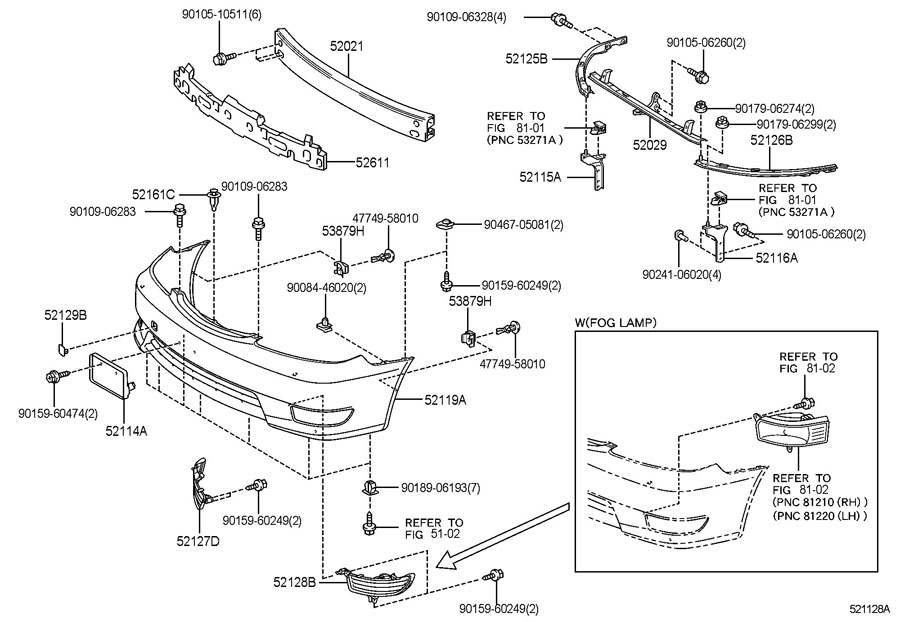 2000 Toyota 4runner Front Bumper Parts Diagram, 2000, Free