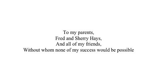Masters Thesis by John P Hays  A Blog of Book Dedications