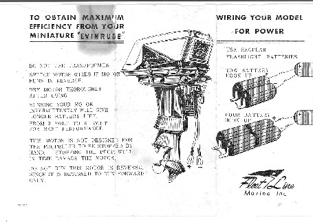 K&O Toy Outboard Motors :: Toy Outboard Instruction Sheets
