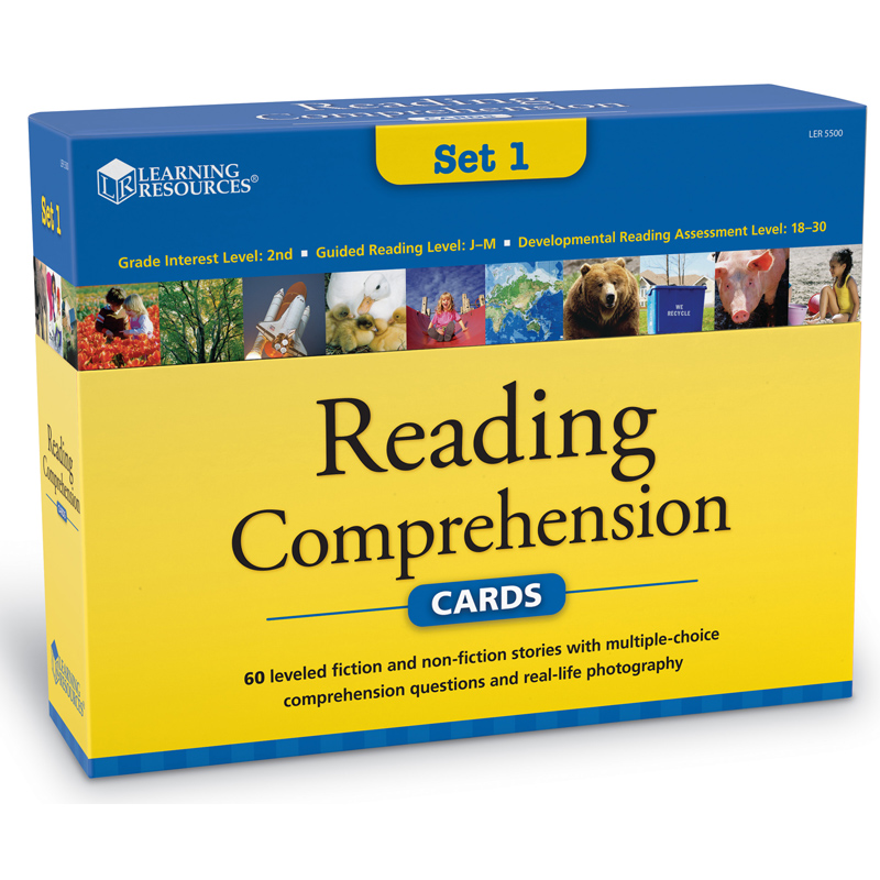 Reading Comprehension Card Set From Learning Resources  Wwsm