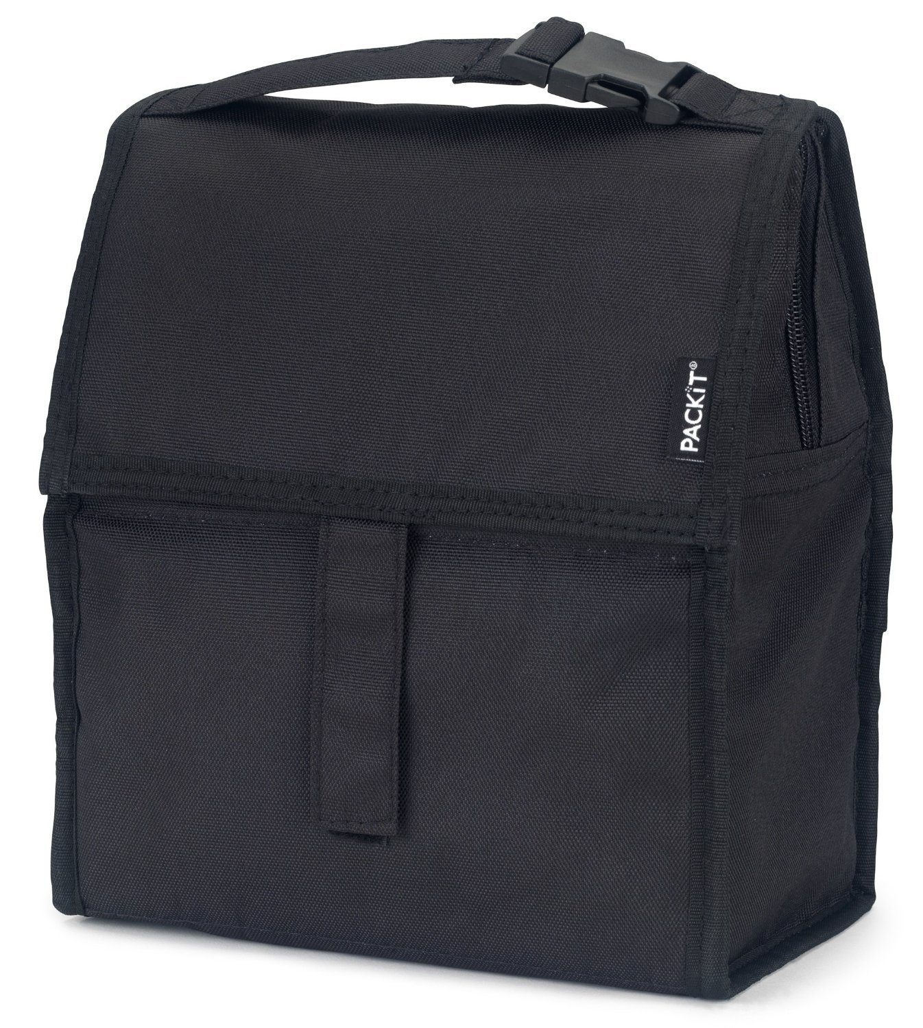 81PTZRuWVWL. SL1500  - PackIt Freezable Lunch Bag with Zip Closure, Black