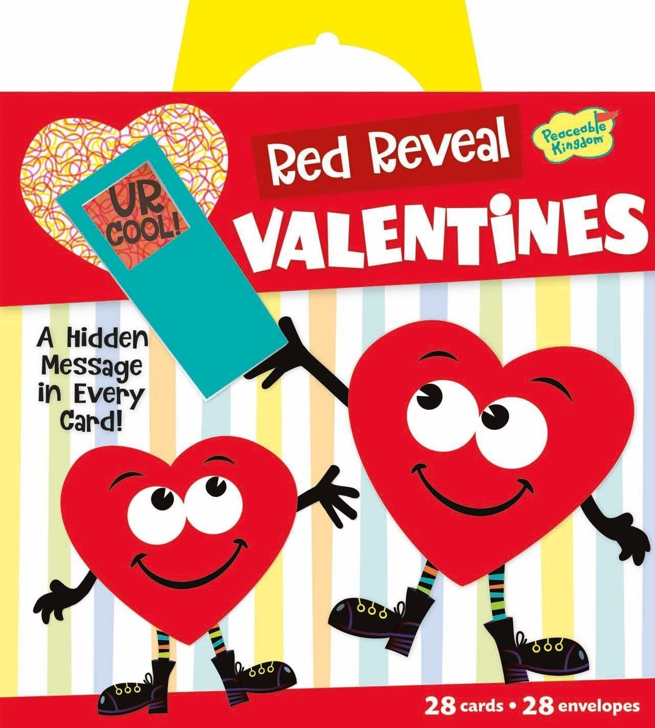 714uCNS9KTL. SL1421  - Peaceable Kingdom Red Reveal Happy Riddle Super Valentine Card Pack