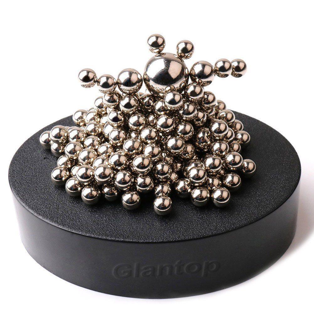 717ytbvKqyL. SL1001  - Glantop® Magnetic Sculpture Desk Toy for Intelligence Development and Stress Relief (Set of 160 Balls, 1 Magnet Base)