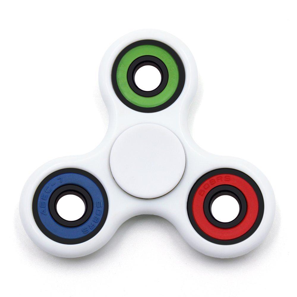 61cUf2rWsIL. SL1000  - MASCOTKING Fidget Spinner Toy Stress Reducer Hand spinner fidget toys hand fidget (white)