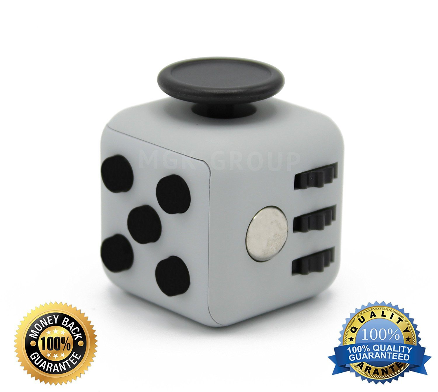 81hFgBPvYqL. SL1500  - Stress Cube for Fidgeters! Relieve Stress, Anxiety, and Boredom for Children and Adults. Gray Color