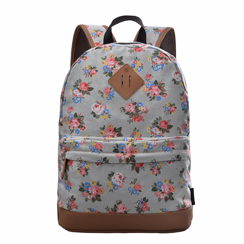 71XNPtYDhvL. UL1500  - Douguyan Girl's Casual Lightweight Print Backpack Cute School Bag Campus Satchel Powder Blue 133b