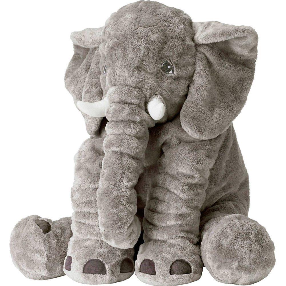 71nIYbgznAL. SL1001  - SGS Baby Stuffed Elephant Plush Pillows Grey, 24 Inches