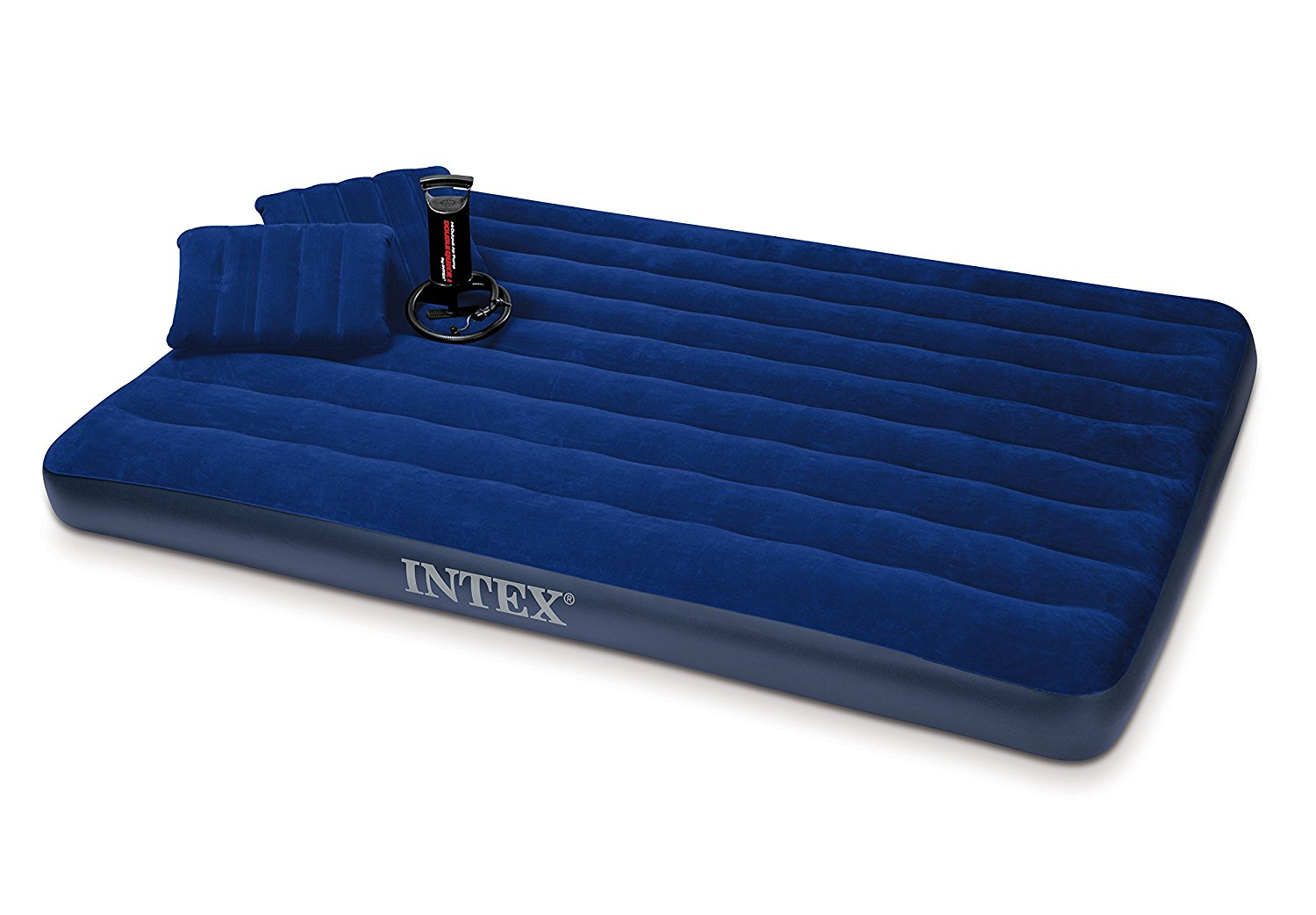 81daO7CNlHL. SL1500  - Intex Classic Downy Airbed Set with 2 Pillows and Double Quick Hand Pump, Queen
