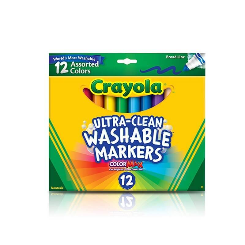 61LSoXxoMQL. SL800  - Crayola 12 Ct Ultra-Clean Washable Markers