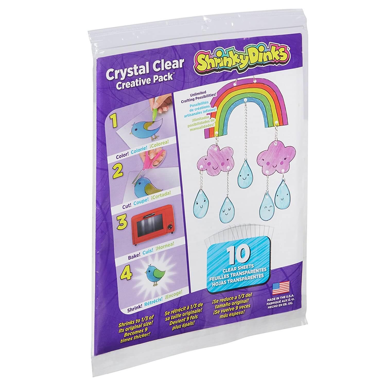 91iGF3T9xgL. SL1500  - Shrinky Dinks Creative Pack 10 Sheets Crystal Clear