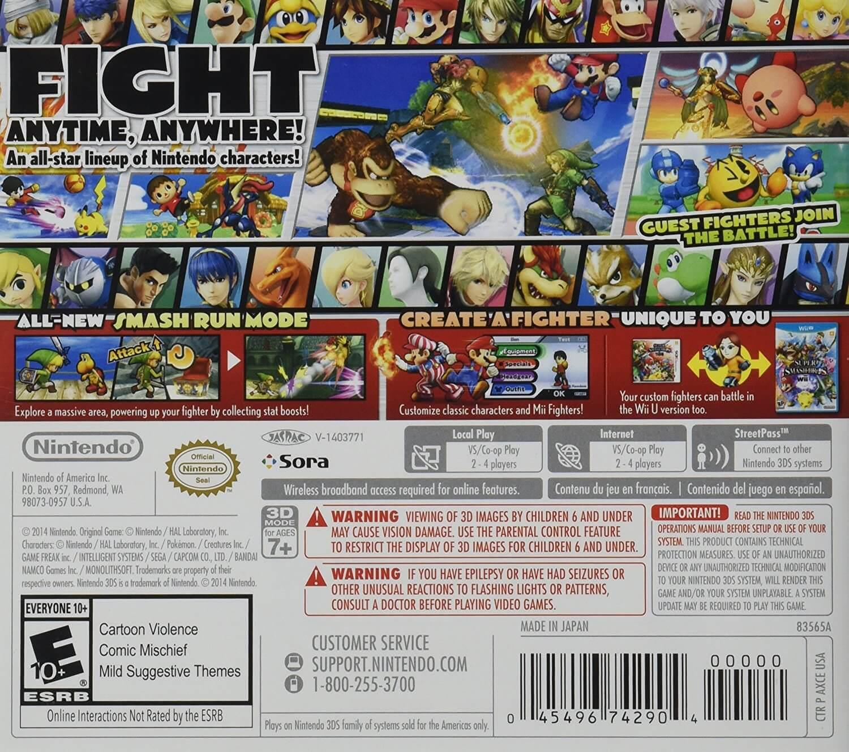 91g rCgwT L. AC SL1500  - Super Smash Bros. - Nintendo 3DS
