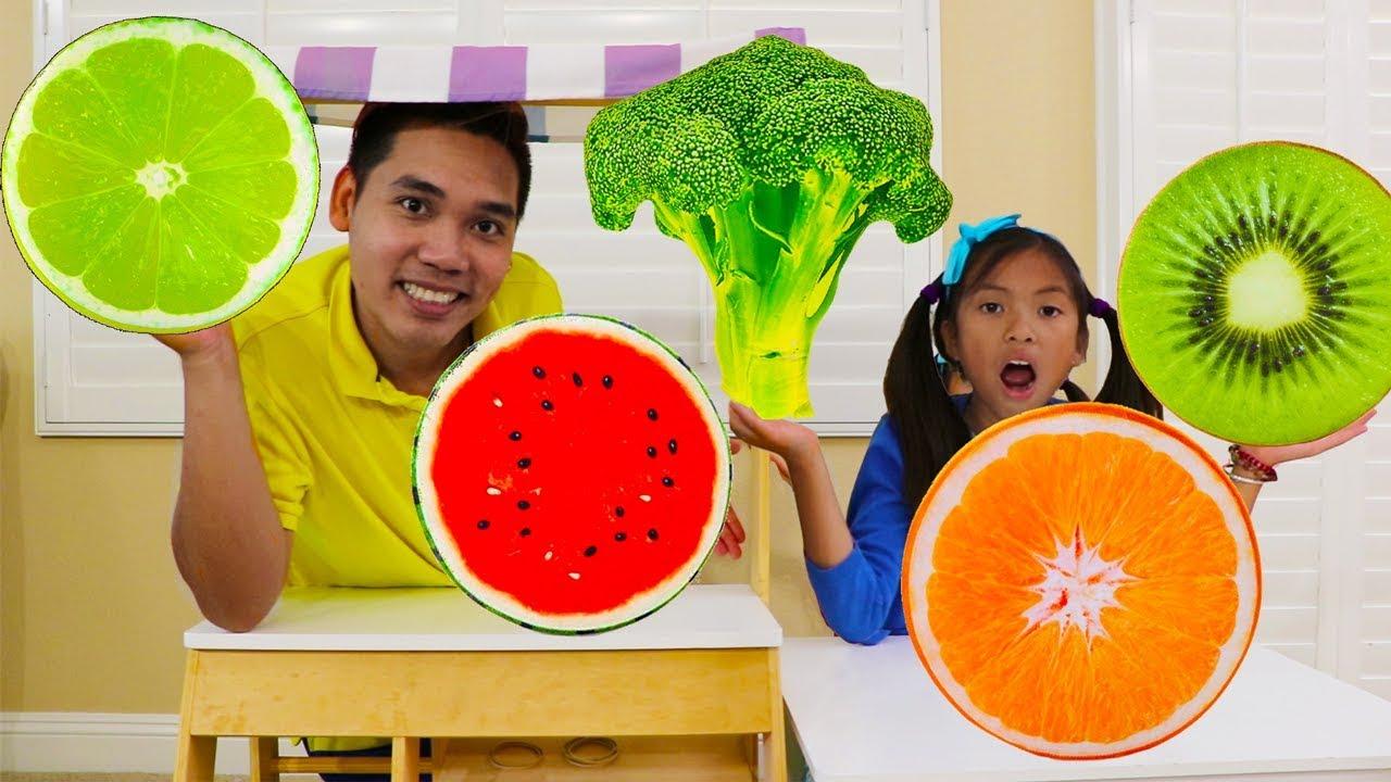 Wendy Pretend Play w Giant Fruit Veggies Pillow Kids Food Toys - Wendy Pretend Play w/ Giant Fruit & Veggies Pillow Kids Food Toys