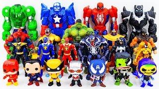 Power Rangers Marvel Avengers Toys Pretend Play SuperHero Funko Pop vs Villains Army Toy Battle - Power Rangers & Marvel Avengers Toys Pretend Play | SuperHero Funko Pop vs Villains Army Toy Battle