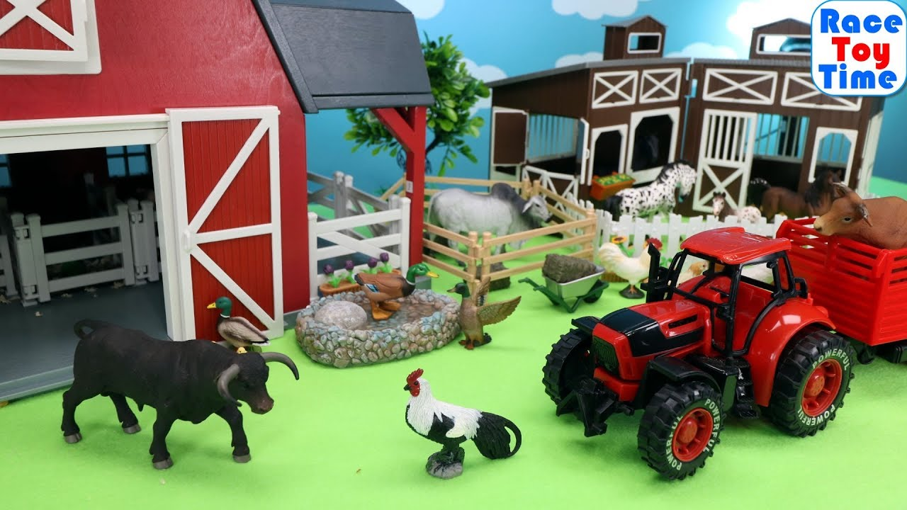Fun Farm Animals and Horse Toys For Kids Learn Animal Names - Fun Farm Animals and Horse Toys For Kids - Learn Animal Names