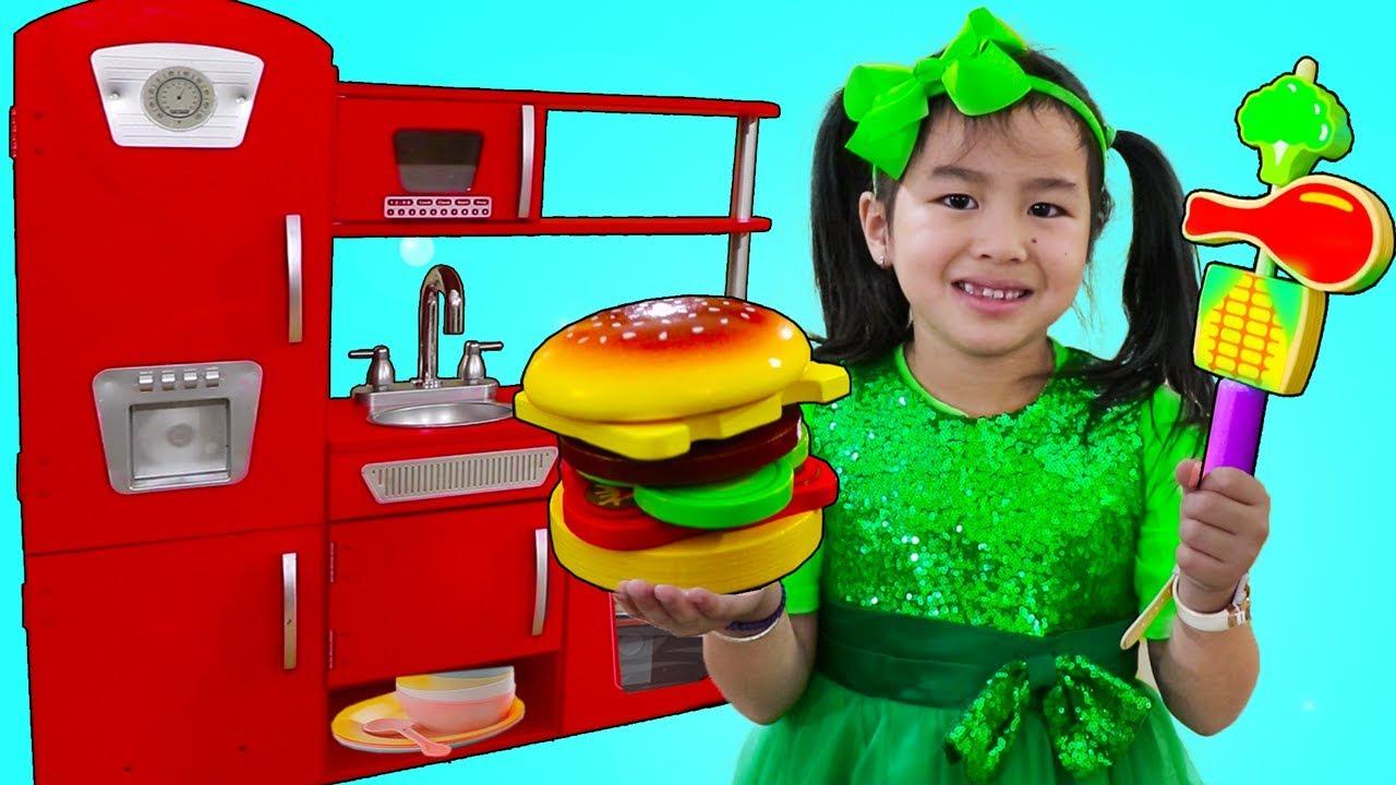 Jannie Pretend Play Cooking BBQ w Cute Kitchen Play Set Kids Food Toys - Jannie Pretend Play Cooking BBQ w/ Cute Kitchen Play Set Kids Food Toys