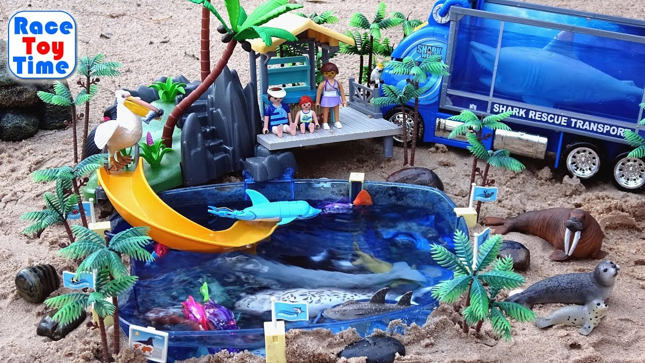 Toy Sea Animals in the Playmobil Aquarium Playset Fun Pretend Toys For Kids Educational - Toy Sea Animals in the Playmobil Aquarium Playset - Fun Pretend Toys For Kids Educational