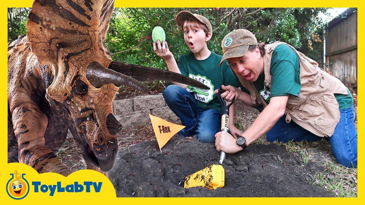 Dinosaur Eggs Challenge Kids Jurassic World Surprise Toys Games Giant Triceratops Escape Plan - Dinosaur Eggs Challenge! Kids Jurassic World Surprise Toys, Games & Giant Triceratops Escape Plan