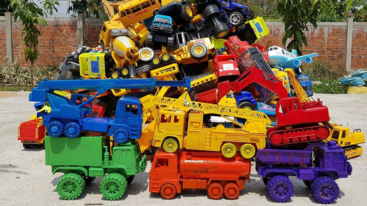 Learn Colors With Car Toys For Children Excavator Crane Truck Dump Truck Container Truck For Kids - Learn Colors With Car Toys For Children Excavator Crane Truck Dump Truck Container Truck For Kids