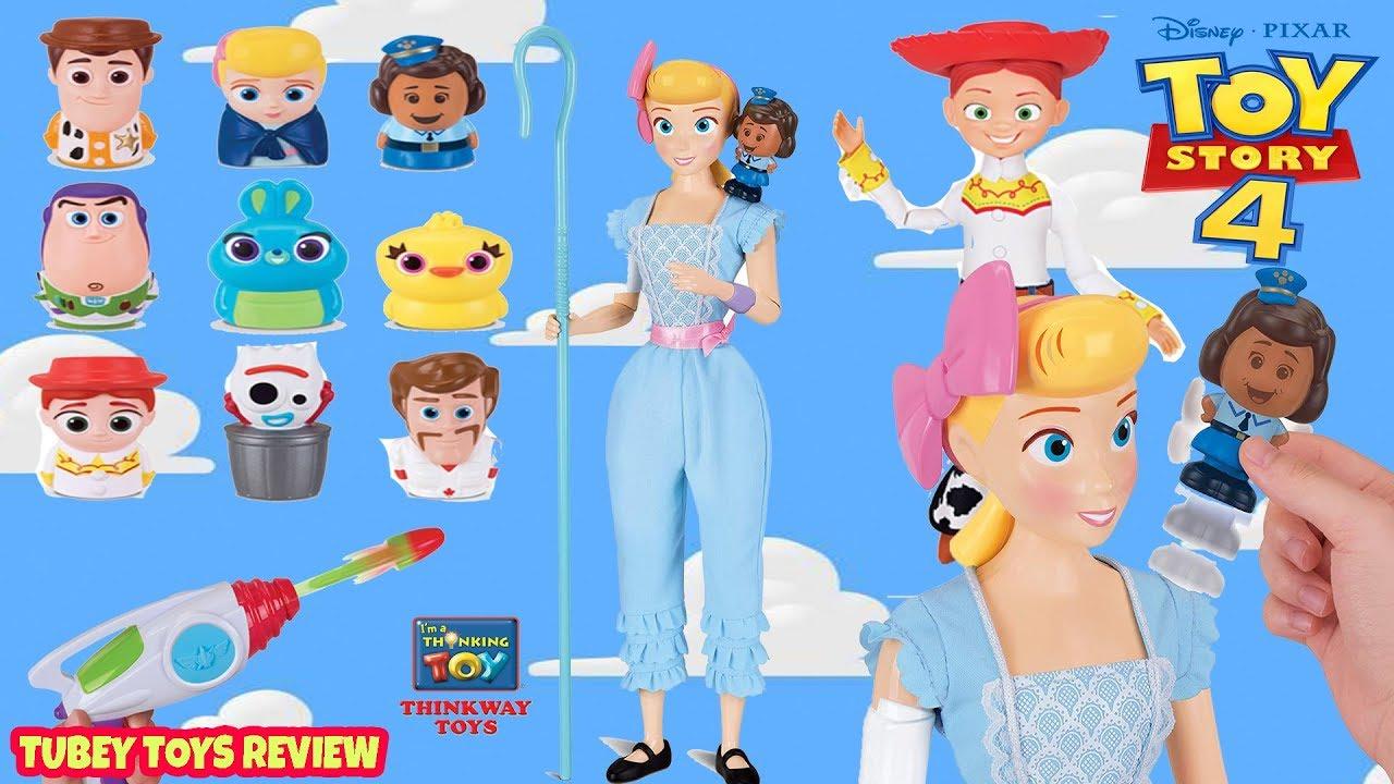NEW Toy Story 4 Toys Huge Haul Poseable Bo Peep Giggle Finger Family Jessie Thinkway Toys Tubey - NEW Toy Story 4 Toys Huge Haul Poseable Bo Peep & Giggle, Finger Family, Jessie Thinkway Toys Tubey