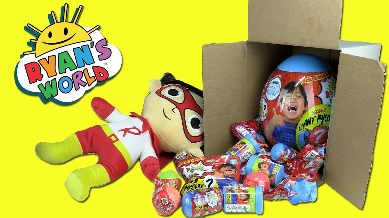 Ryans World Toy Box Opening Giant Mystery Egg Squishy Slime Putty Activity Book Series 2 - Ryan's World Toy Box Opening! Giant Mystery Egg, Squishy, Slime, Putty, Activity Book (Series 2)