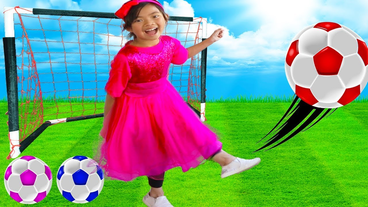 The Soccer Song Football Song Toys and Colors Emma Pretend Play Nursery Rhymes Kids Songs - The Soccer Song (Football Song) | Toys and Colors Emma Pretend Play Nursery Rhymes & Kids Songs
