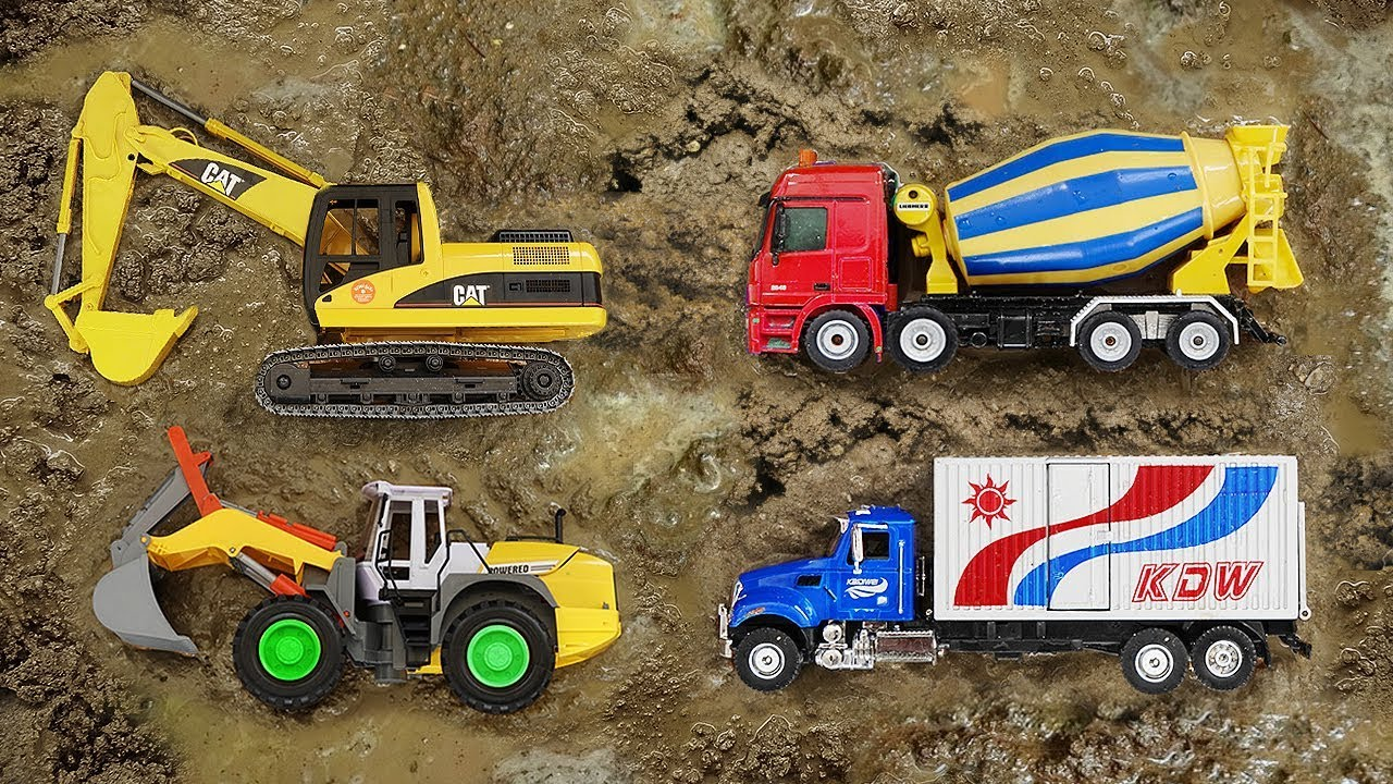Fine Cars Toys Construction Vehicles Looking in the Mud - Fine Cars Toys Construction Vehicles Looking in the Mud