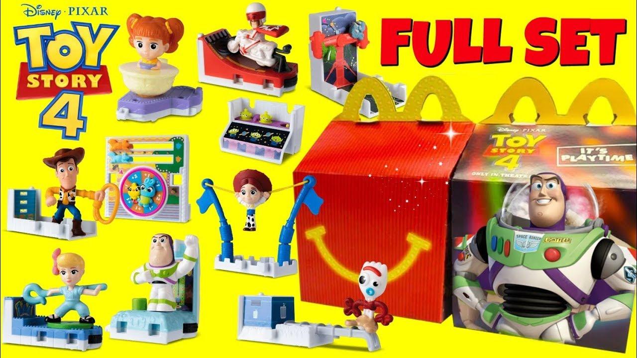 TOY STORY 4 Characters McDonalds Drive Thru Happy Meal Full Set - TOY STORY 4 Characters McDonald's Drive Thru Happy Meal Full Set