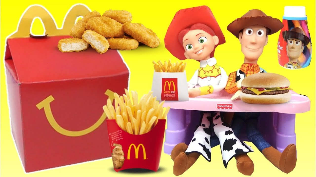 Woody and Jessie From TOY STORY 4 Eat a McDonalds Happy Meal Toys Unlimited - Woody and Jessie From TOY STORY 4 Eat a McDonald's Happy Meal   Toys Unlimited