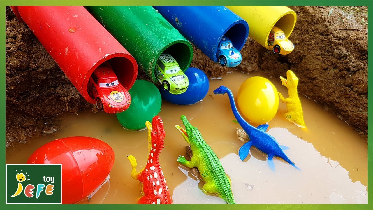 Magical frog eggs in color dinosaurs play Learn Colors Dinosaur Toys JefeToy - Magical frog eggs in color dinosaurs play ! Learn Colors Dinosaur Toys   JefeToy