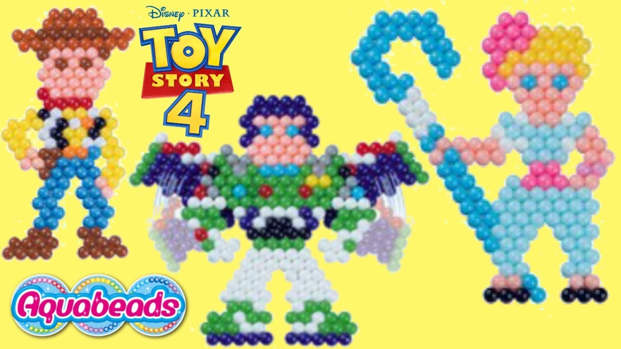 TOY STORY 4 D.I.Y. Aquabeads Easy Craft with Woody Buzz Lightyear Bo Peep - TOY STORY 4 D.I.Y. Aquabeads Easy Craft with Woody, Buzz Lightyear & Bo Peep