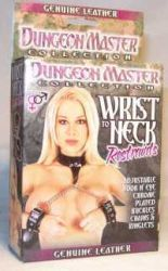 CUFFS DUNGEON MASTER WRIST NECK STRAPS