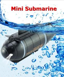 Mini RC Submarine Speed Boat Remote Control Drone Pigboat Simulation With LED Light RC Toy Gift
