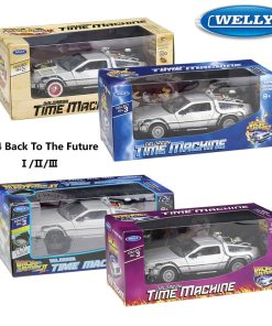 WELLY Diecast   Scale Model Car Toy Delorean For Movie Back to The Future Part