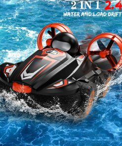 IN  Q RC Amphibious Drift Car Hovercraft Speed Boat Remote Control Stunt Car For