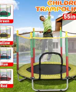 cm Indoor Trampoline with Protection Net Adult Children Jumping Bed Outdoor Trampolines Exercise Bed Fitness Equipment