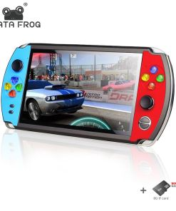 DATA FROG    inch Double Rocker Handheld Game Console Support TV Output X Retro