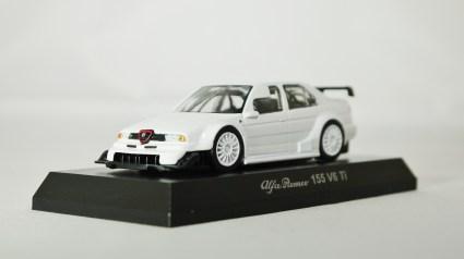 1-64 Kyosho Alfa Romeo Minicar Col 4 155 V6 Ti WHT 02