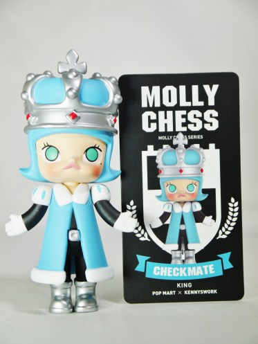 Pop Mart Kennyswork MOLLY CHESS CLUB CHECKMATE KING BLUE 08