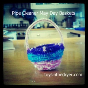 Pipe cleaner baskets, pipe cleaner crafts, may day baskets