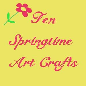 spring flower art crafts