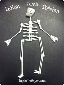 cotton swab skeleton