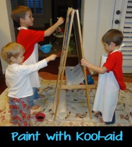 Kool-Aid, painting, painting with kool-aid, activities for kids,