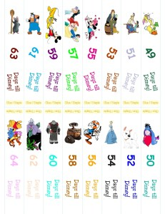Disney Countdonw Chain 1.13(1) 5