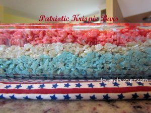 4th of July desserts, 4th of July, patriotic, patriotic desserts, Rice Krispies