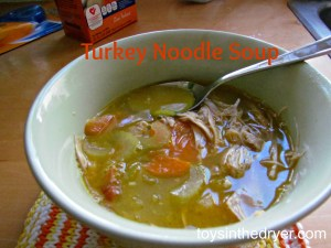 turkey noodle soup, homemade soup, Thanksgiving leftovers