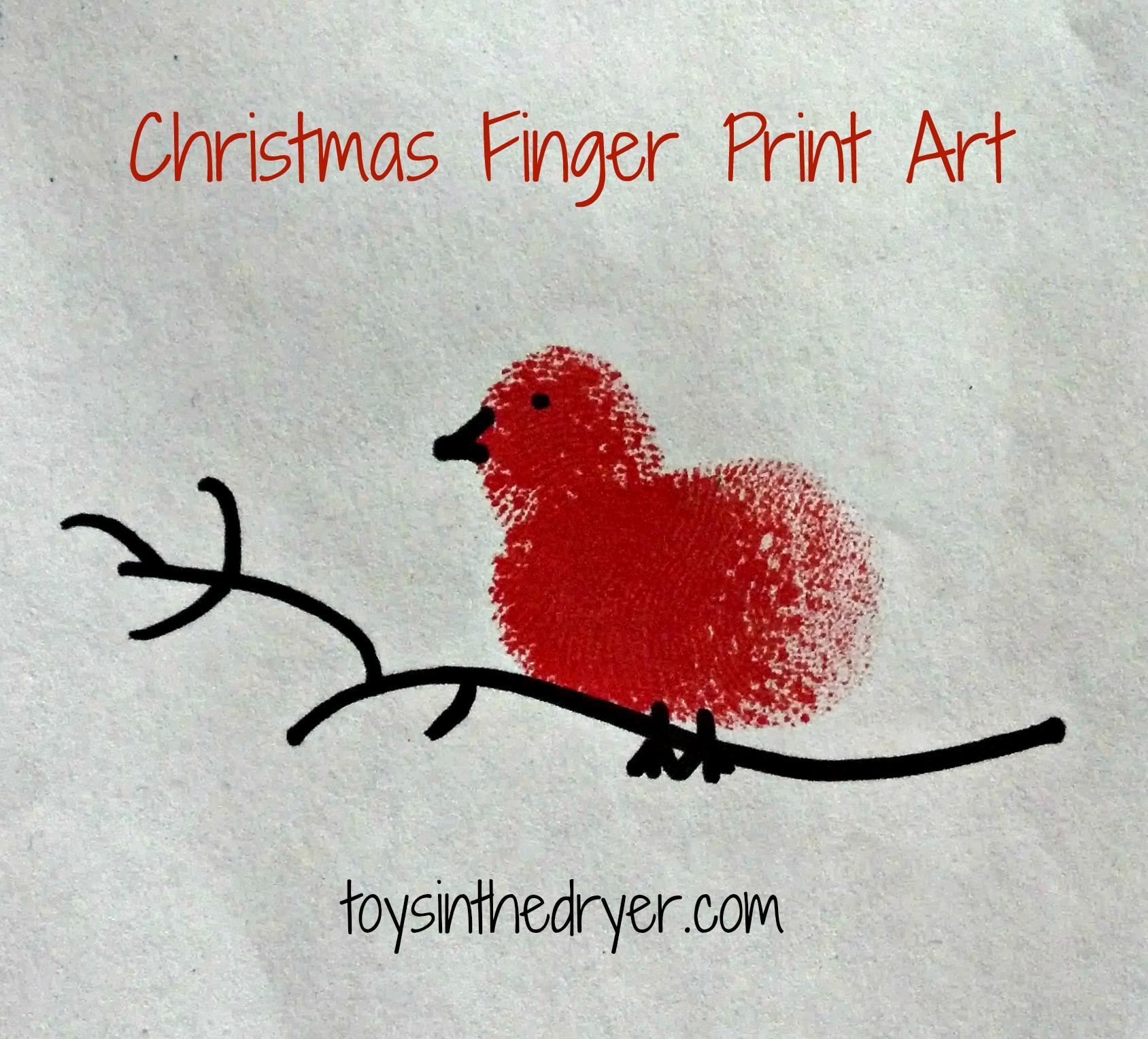 How To Make Christmas Fingerprint Art