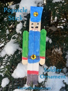 Popsicle stick soldier ornament